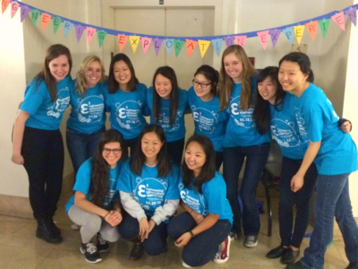 SWE members volunteer at the annual Engineering Exploration Experience event